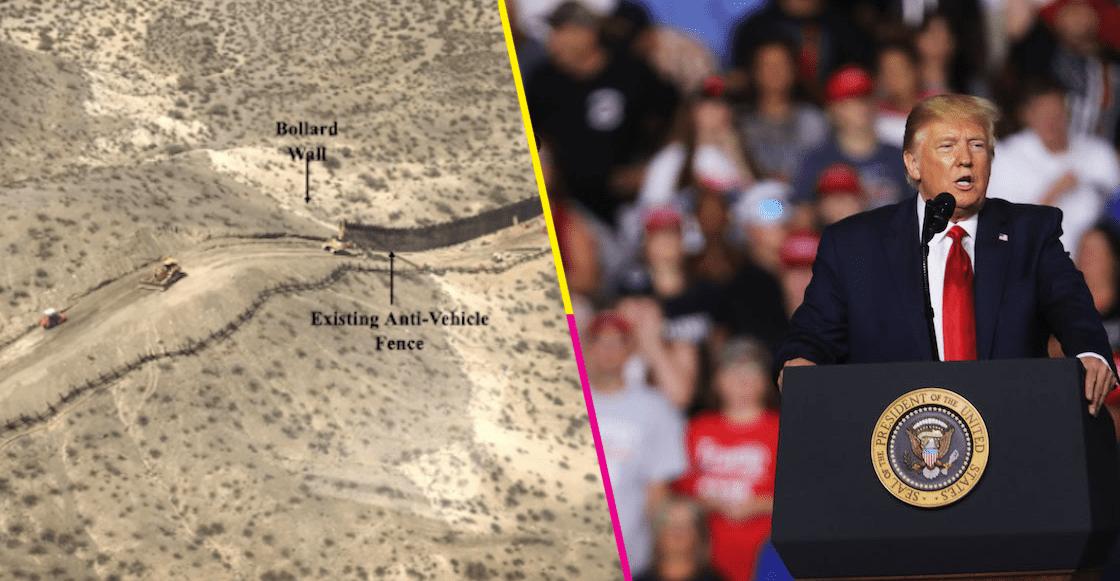 """""""Grande, hermoso y nuevo"""", así presume Trump los avances del muro en la frontera"""