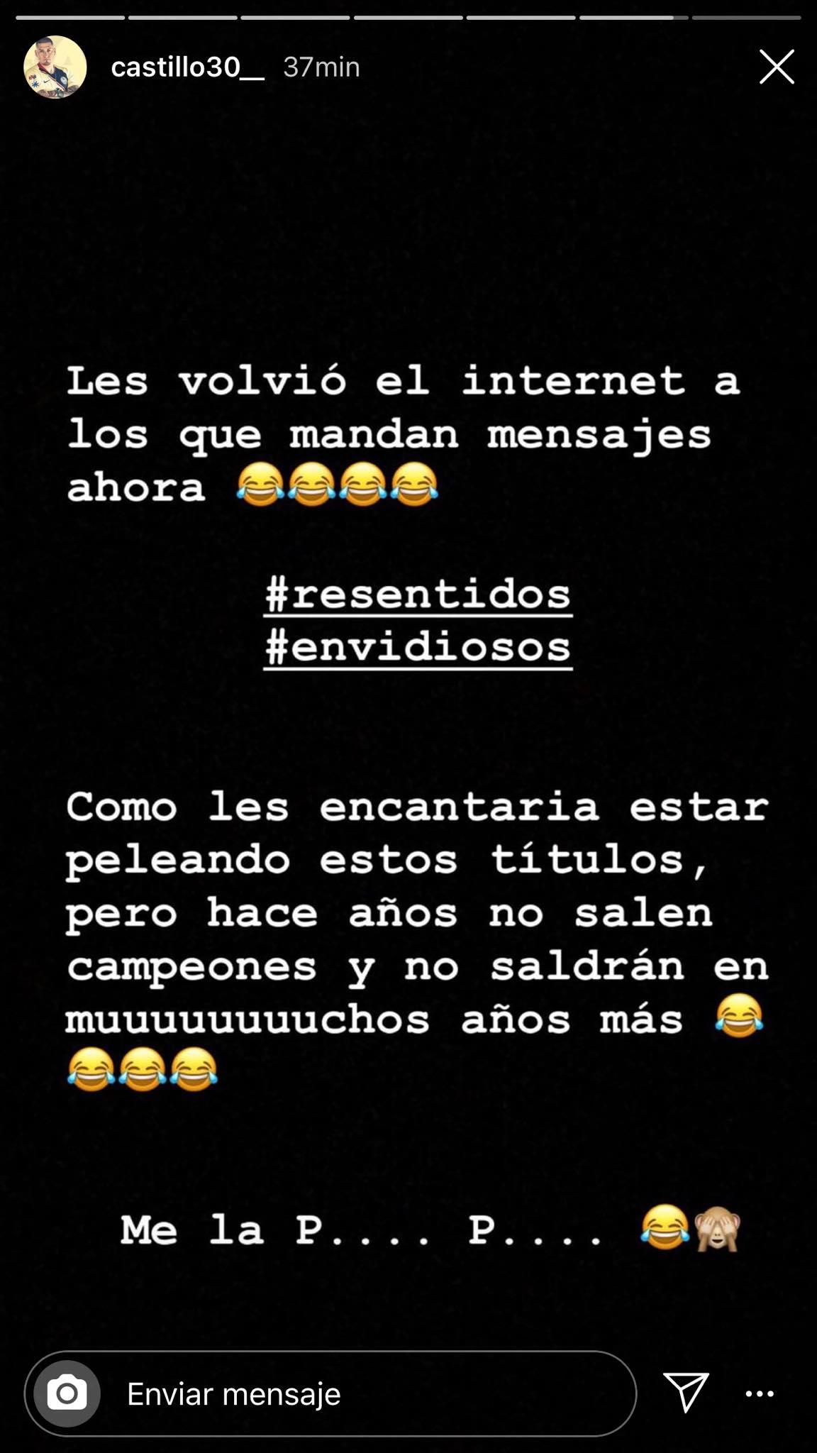 """""""Me la p.... p...."""": El mensaje de Nico Castillo tras la derrota del América"""