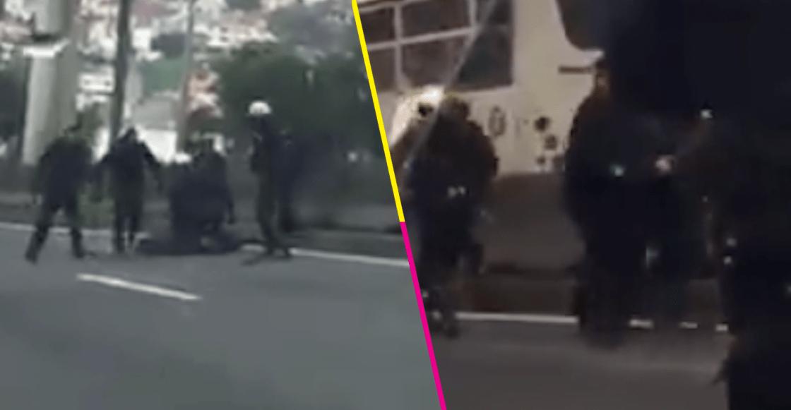 Policías detienen a presuntos asaltantes de transporte público tras balacera en Periférico Norte