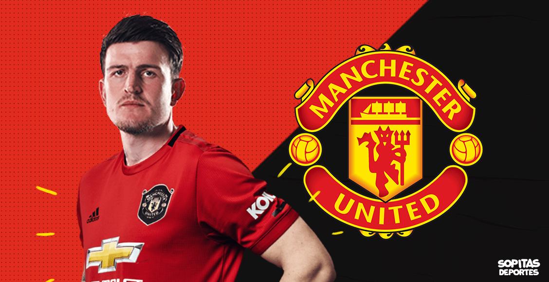 ¡Es oficial! Manchester United convirtió a Harry Maguire en el defensa más caro de la historia