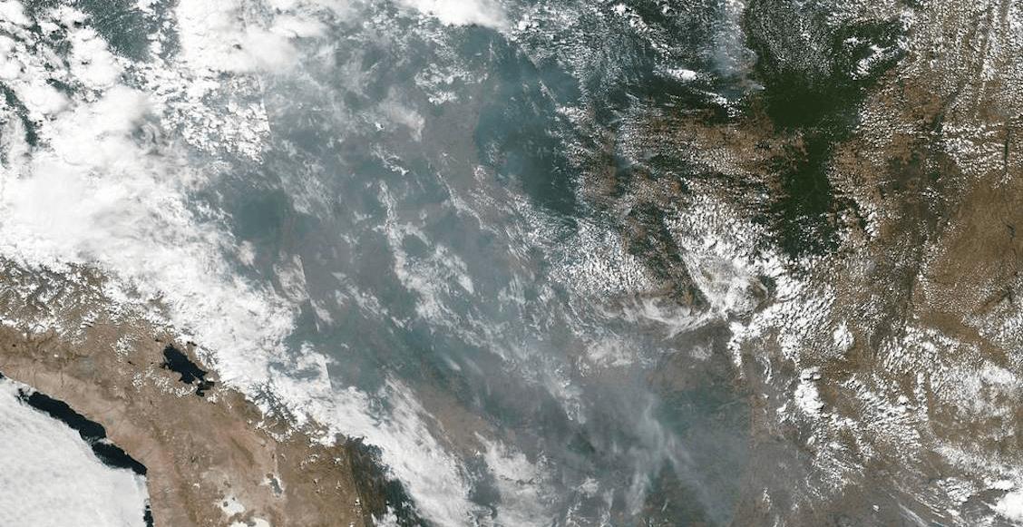 En imágenes: Los incendios en la selva del Amazonas captados por la NASA