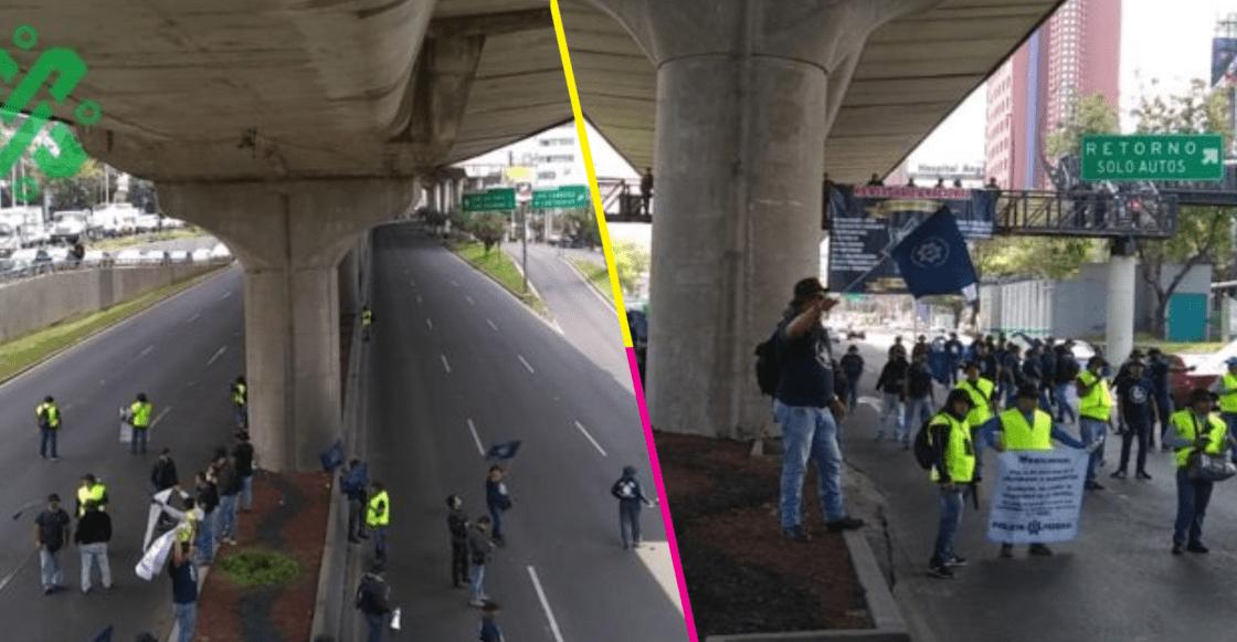 Sigue la mata dando: Policías Federales se manifiestan en Periférico Sur; se niegan ir a la GN
