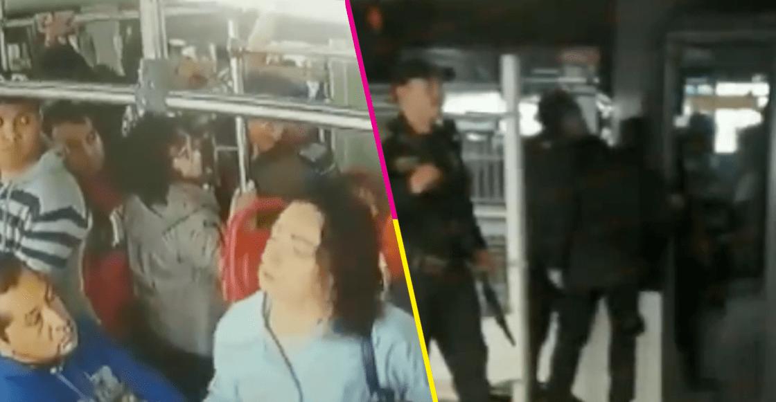 Detienen a presuntos carteristas en el Mexibús; un usuario los denunció y este fue el resultado