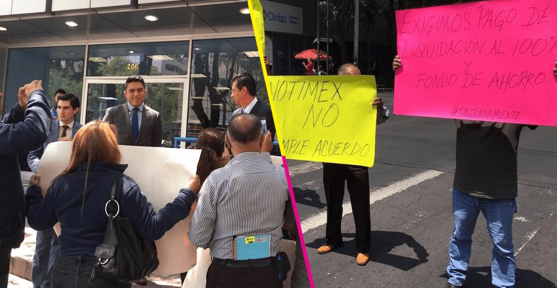Otra vez Notimex: Extrabajadores se manifiestan y exigen el pago de su liquidación