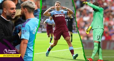 La pelea del 'Kun', el récord del 'Chicharito' y el oso de Adrián: Lo que nos dejó la J2 de la Premier League