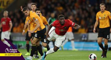 Pogba falló un penal y el Manchester United sigue sin ganarle al Wolves de Jiménez