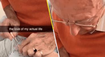 Ayyy: Este abuelito le pintó las uñas a su nieta para que se