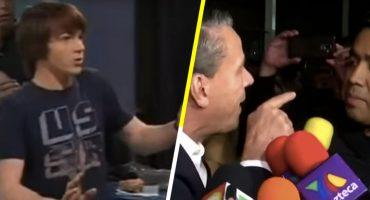 A falta de 'Pelea del siglo': Alfredo Adame se pelea con reportero y le mienta la madre