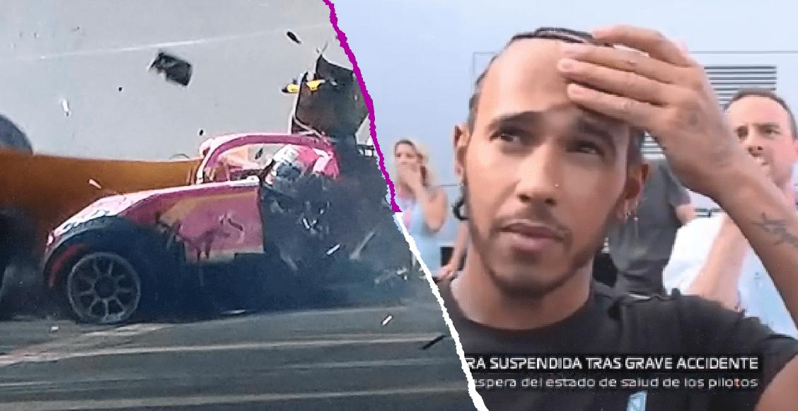 La reacción en vivo de Hamilton al presenciar el accidente fatal de Hubert en Fómula 2