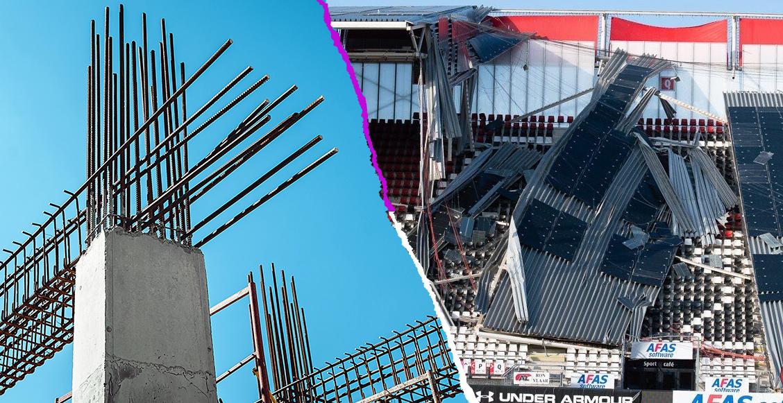 Culpan al AZ Alkmaar por derrumbe en su estadio; lo construyeron con materiales baratos
