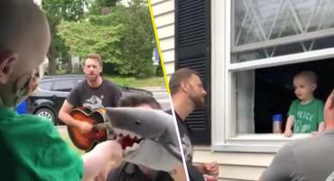 Qué rifados: Esta banda hizo un concierto privado para un pequeño fan con cáncer