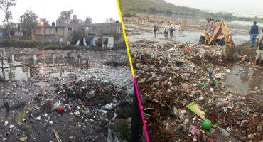 Fueron retiradas al menos 100 toneladas de basura de la presa El Ángulo, en Cuautitlán Izcalli