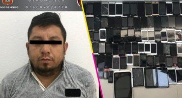 Detienen a sujeto con 120 celulares; no pudo comprobar su procedencia