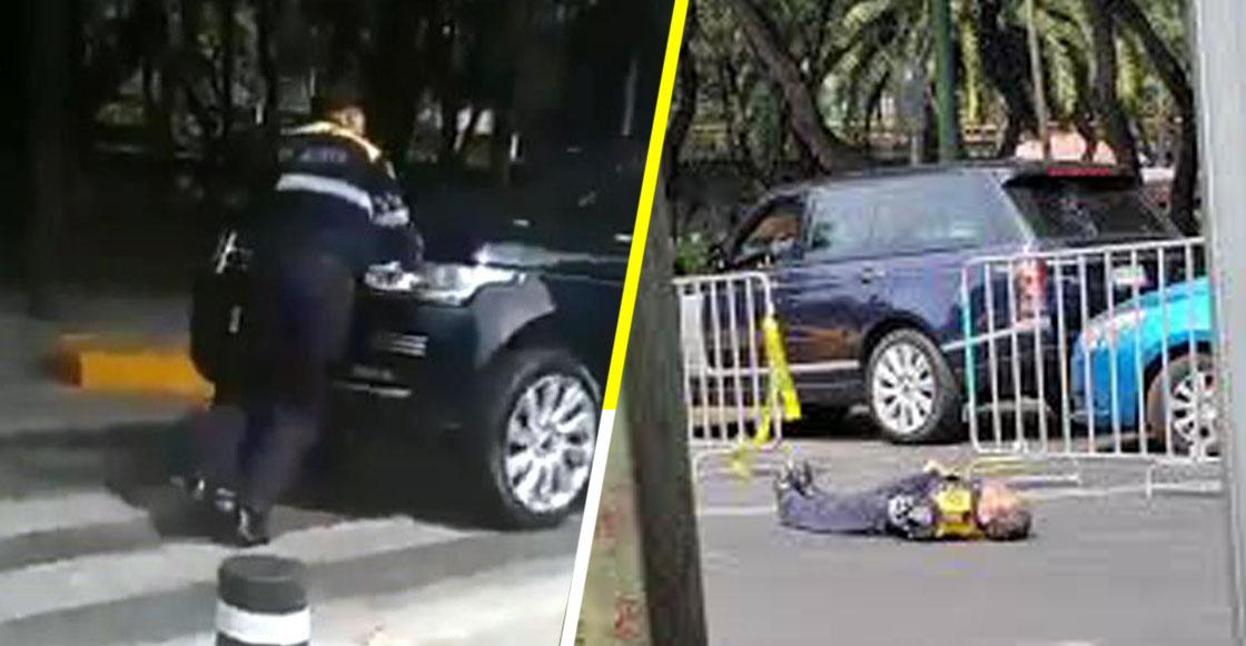 Nunca falta el gandalla: Conductor golpea a policía por bloqueos en Maratón de la CDMX