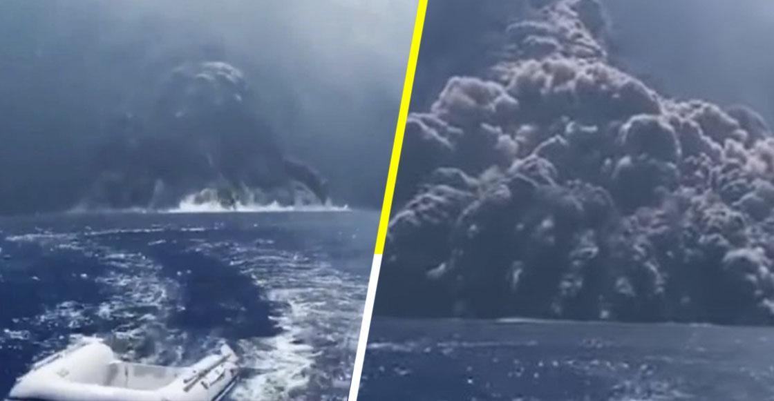 Como de película: Así fue la huida de un barco de turistas tras erupción de volcán
