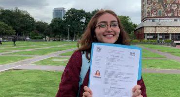Alumna de la UNAM rechaza pase reglamentado y hace examen de admisión perfecto 😱