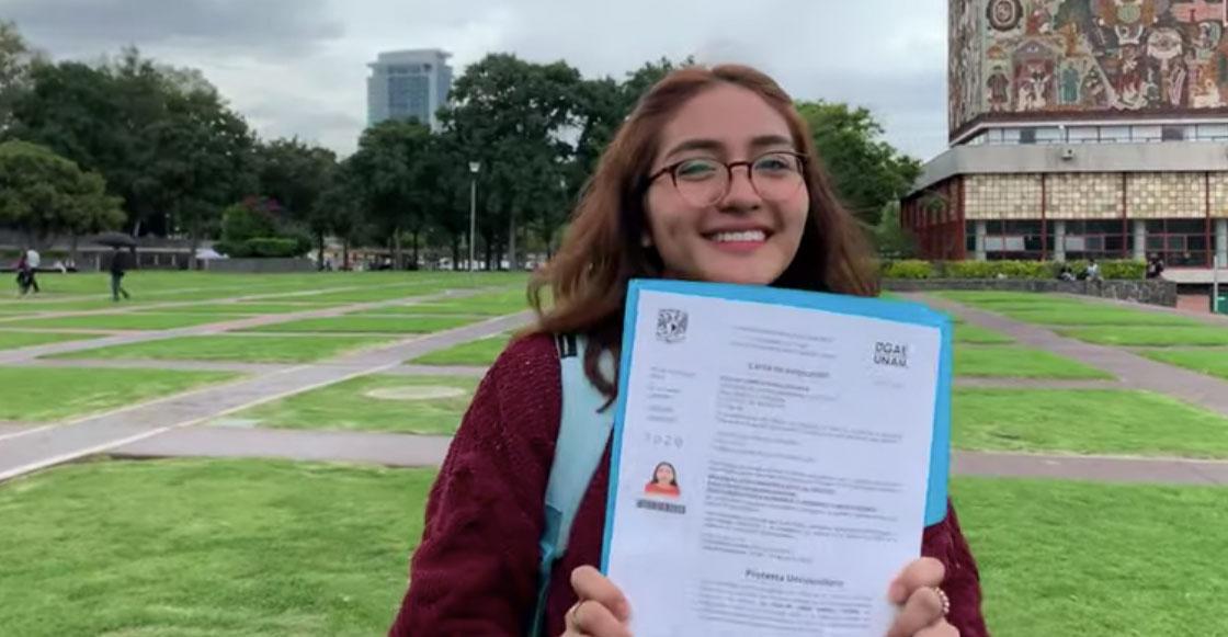 Alumna de la UNAM rechaza pase reglamentado y hace examen de admisión perfecto