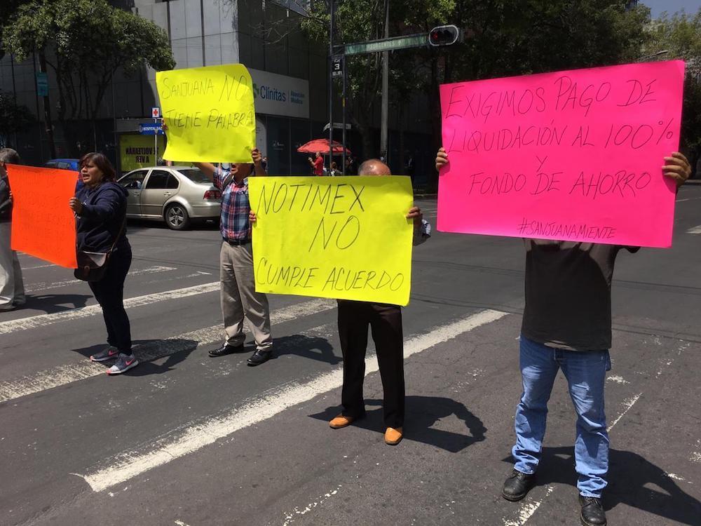 extrabajadores-notimex-manifestación
