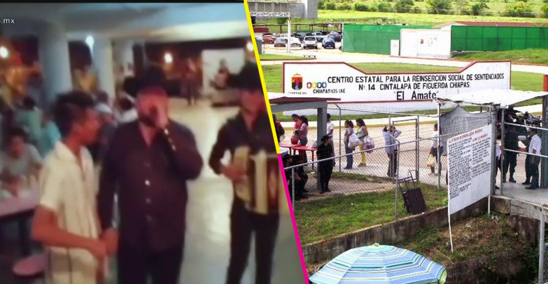 ¿Quién dijo viernes? Presos arman el 'fiestón' al interior del penal El Amate en Chiapas