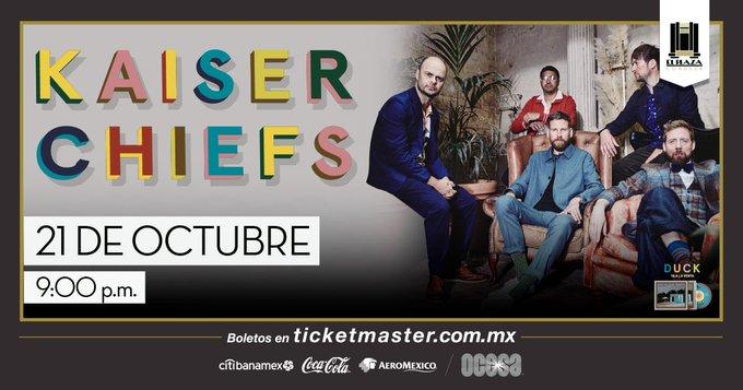 Ruby Ruby Ruby! ¡Kaiser Chiefs dará un concierto en México!
