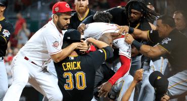 Ocho suspendidos por la pelea en Grandes Ligas entre Pittsburgh y Cincinnati