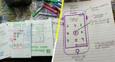 Nietas ejemplares: Le realiza una guía a su abuelita para que aprenda a usar el celular