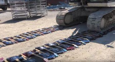 ¡Ouch! Video muestra a la compañía Gibson destruyendo cientos de guitarras