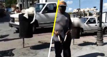 HDP: Hombre le corta la cola a perrito que buscaba comida en bote de basura, en Puebla