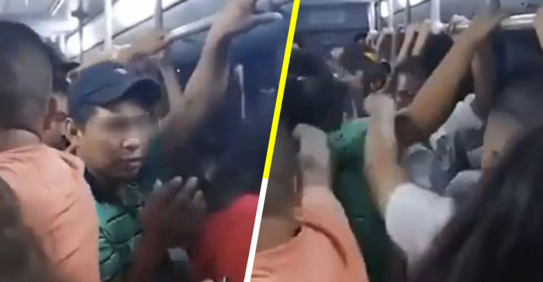 Sacan a empujones a hombre que supuestamente acosaba a niña dentro del Metro en Monterrey