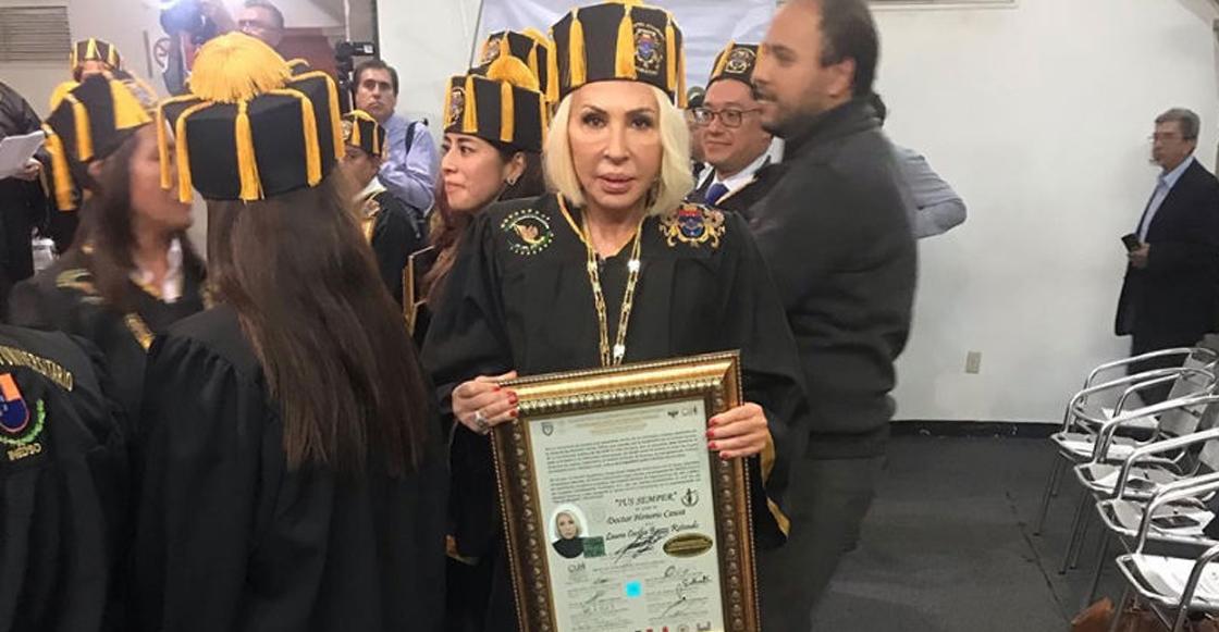 Laura Bozzo pagó 30 mil pesos como 'donativo' para obtener Doctorado Honoris Causa