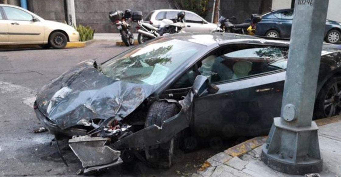 Casual: Choca Lamborghini de 6 millones de pesos y lo abandona en la colonia Roma
