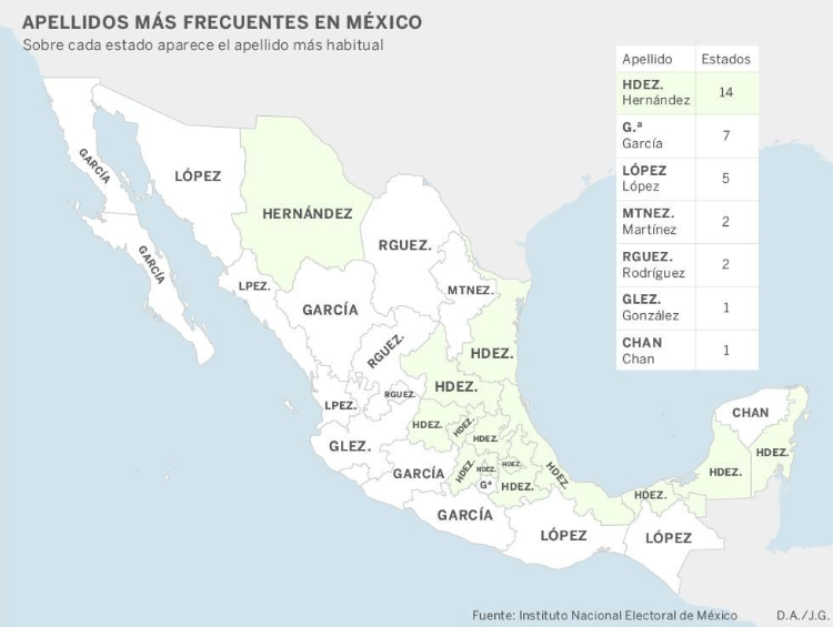 mapa mexico apellidos