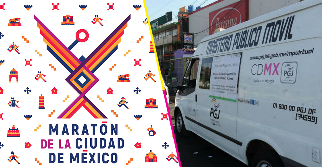Habrá 8 unidades móviles del Ministerio Público en la ruta del Maratón de la CDMX