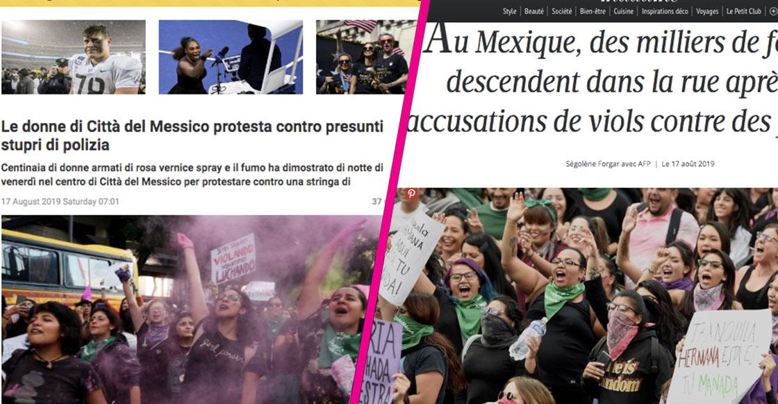 Mejor ellos: Así informaron los medios internacionales sobre la marcha feminista de la CDMX