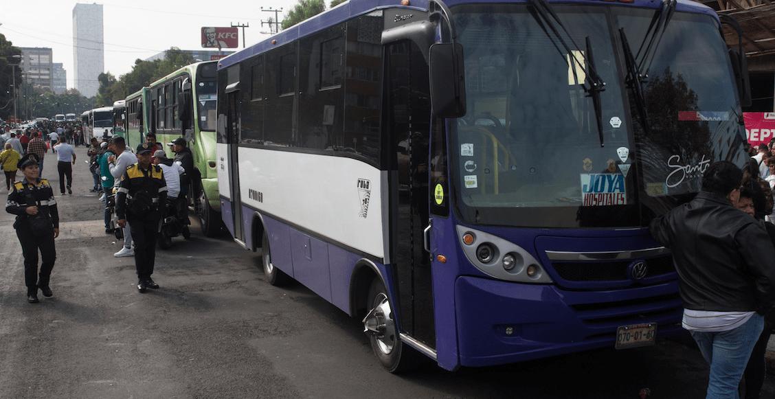 ¡Aguas! Microbuses de CDMX anuncian megamarcha; exigen tarifa a 10 pesos