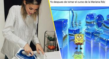 Lo volvió a hacer: Mariana Rodríguez se inscribe a un curso para el hogar y el internet se descontroló