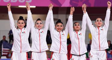Gimnastas mexicanas repiten oro, ahora en conjunto cinco pelotas