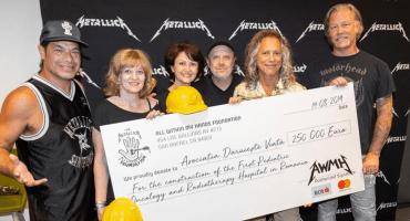 ¡Masters! Metallica dona 250 mil euros para la construcción de un hospital infantil