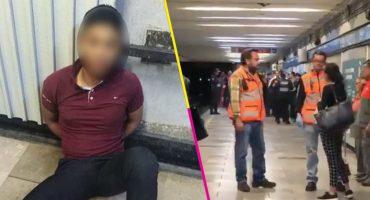 Empleado del Metro muere al impactar contra vagón; sujeto lo empujó por discusión