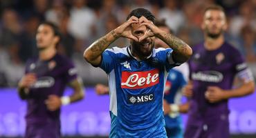 Napoli, sin 'Chucky' Lozano, arranca con voltereta y triunfo de locura ante la Fiorentina de Ribery