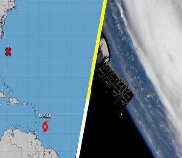¡Enorme! Así se ve el huracán 'Dorian' desde el espacio