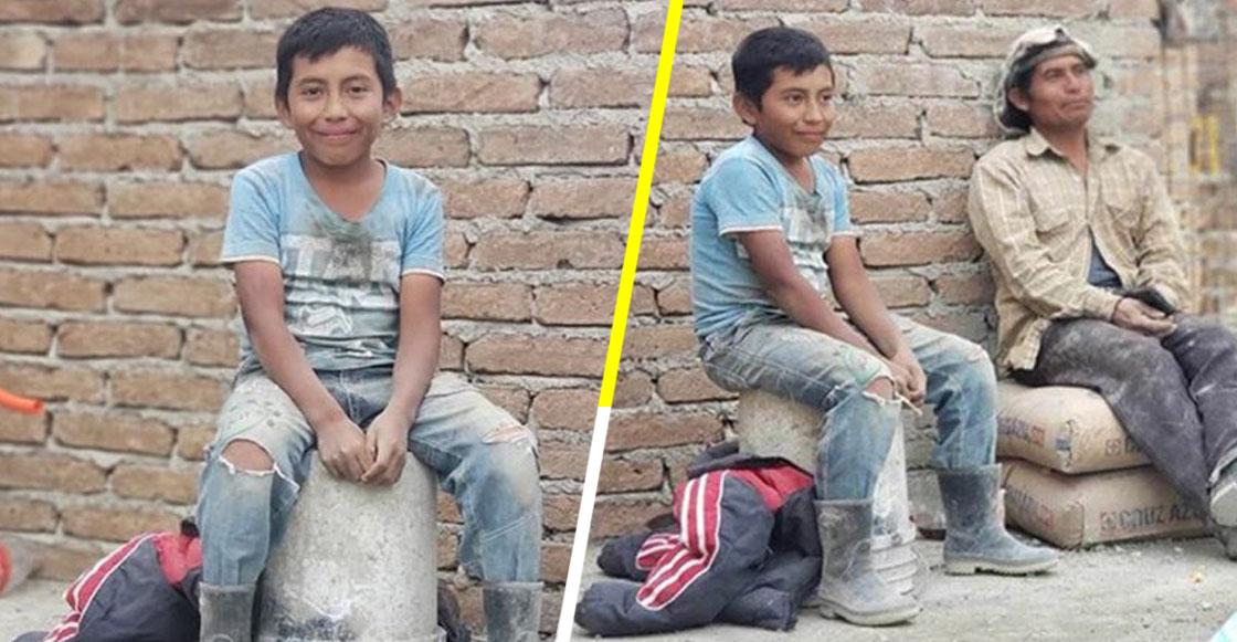 Una universidad le ofreció una beca al niño albañil de Chiapas que sueña con ser arquitecto y sí, estamos llorando