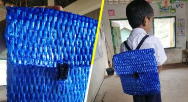 El mejor del mundo: Papá le teje una mochila a su hijo al no tener dinero para comprarle una 😢