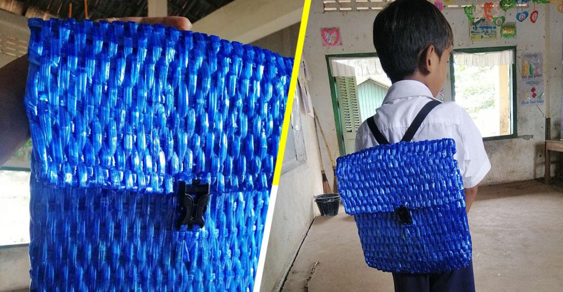 El mejor del mundo: Papá le teje una mochila a su hijo al no tener dinero para comprarle una
