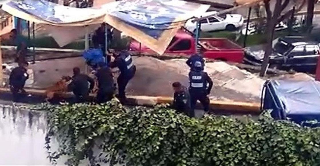 Policías realizan operativo para atrapar a presunto criminal y le disparan a una perrita