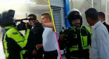 Reporteros fueron agredidos por personal de seguridad de Plaza Tepeyac tras incendio