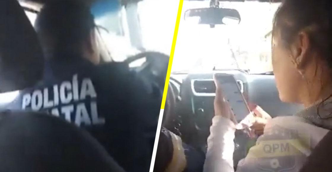"""Ah prro: Policía arma la pachanga con amigas, alcohol y """"Mamarre"""", a bordo de su patrulla"""