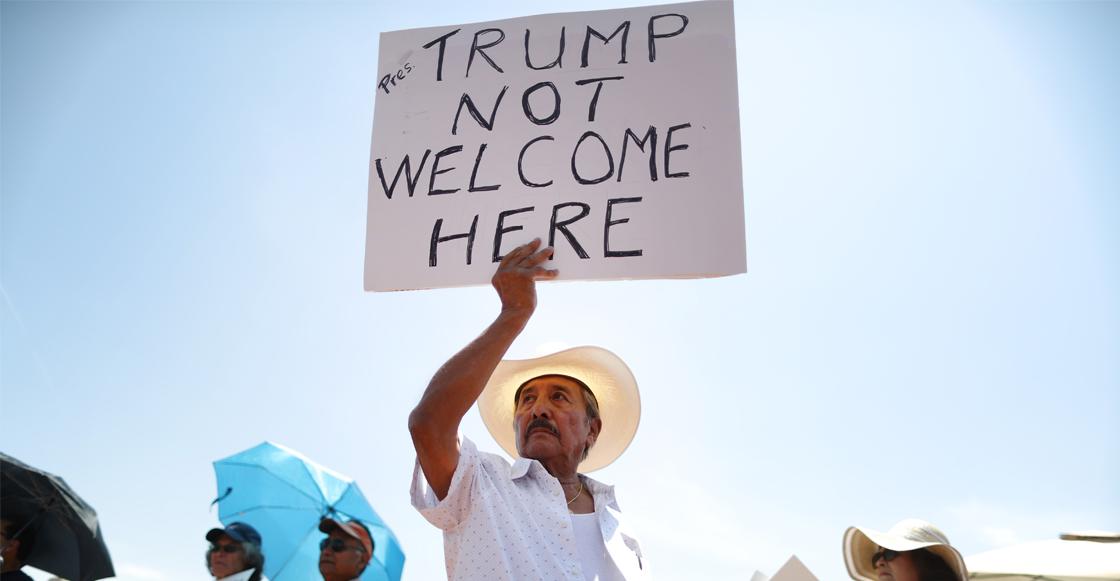 Así recibieron a Trump en Ohio y Texas mientras visitaba a los heridos de tiroteos