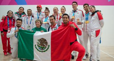 Montoya y Mar conquistan la cuarta medalla del día en raquetbol en dobles varonil