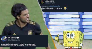 Galaxy se burló de Carlos Vela y así reaccionó la afición